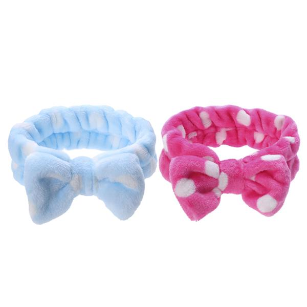 Useful 2pcs Makeup Headbands With Soft And Cute Big Bow For Women And Girls Shower Spa And Make Up Moderate Price Bath Beauty & Health