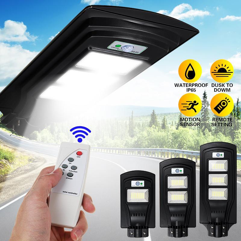 150 300 450led Solar Street Light, Remote Motion Sensor For Outdoor Lights