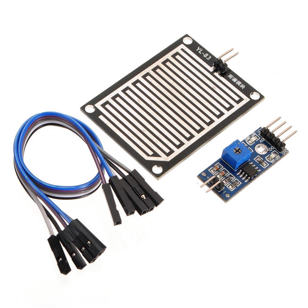 3 Sets Rain Sensor Module Humidity Raindrop Weather Detection Module For Arduino