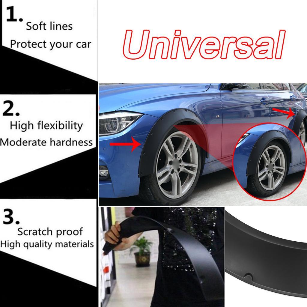 Will Fit Malibu Wheel Fender Flares wide Body Flexible ABS Plastic Universal