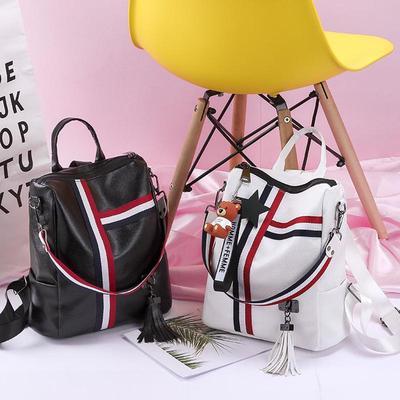 03c1af6c52a2 2018 новой ретро кисточкой молния Дамы кожа высокого качества рюкзак школа  моды Сумка наплечная сумка