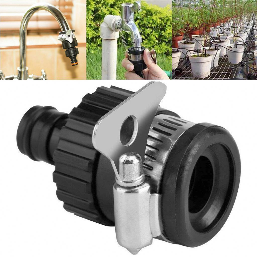 Garden Mixer Tap Irrigation System 2 Way Valve Quick Connector Adapter Universal