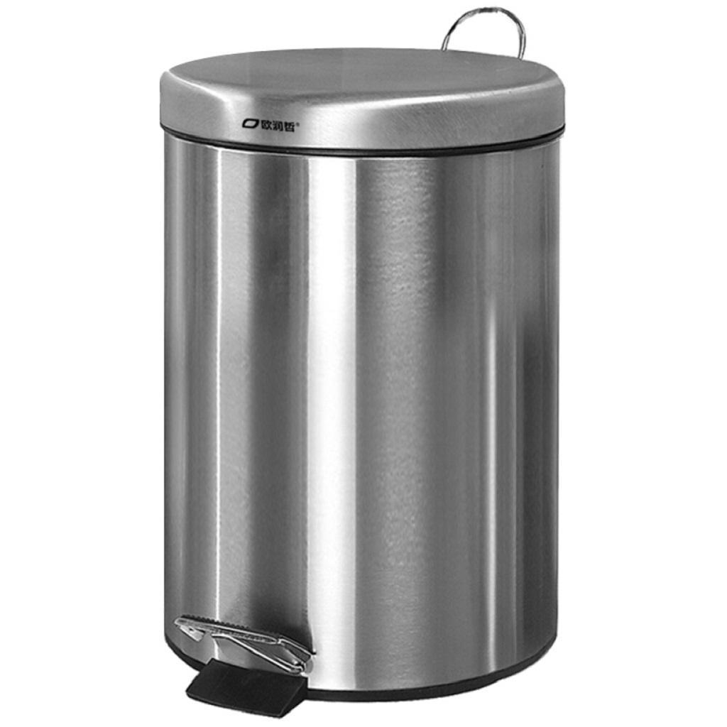 Bathroom Wastebasket Garbage Bin, Stainless Steel Bathroom Garbage Can