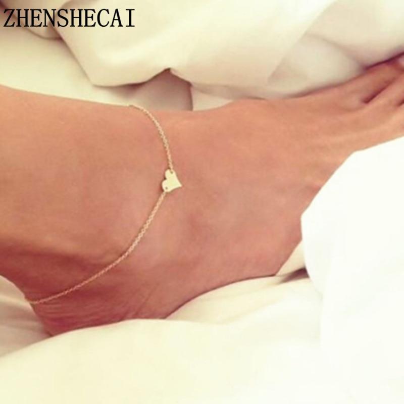 Новое сердце женский лодыжки Босиком Crochet сандалы ноги ювелирные изделия Ноги Новые браслеты лодыжки Ankle фото