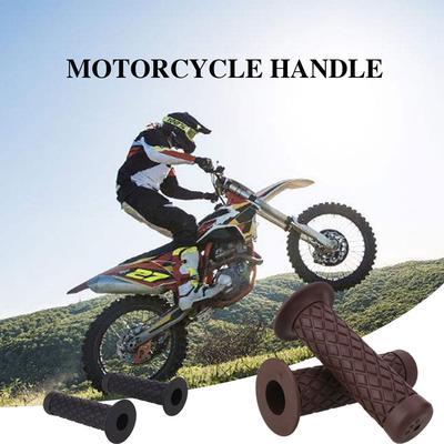 Rubber Motorcycle Bike Vintage Classic Handlebar Hand Grips