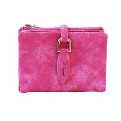 01ea0c4f1c04 Women Wallets Leather Purse Girl Bow Candy Color Short Coin Holder Card  Clamp For Money Small