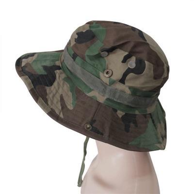 Cimva Fishing Hiking Boonie Snap Brim Military Bucket Sun Hat Cap Woodland  Camo SSH 127c77f09038