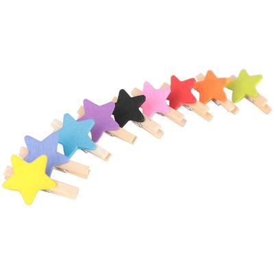 20 50 or 100  Miniature Wooden Spring Clothes Pegs 25 mm Random Mixed Colours