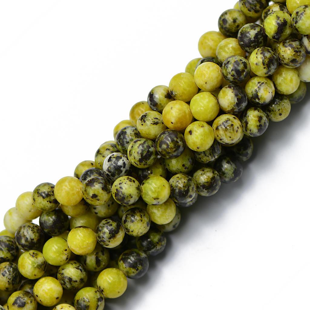 "6mm Natural Yellow Peridot Beads Gemstone Round Loose Beads Strand 15/"""