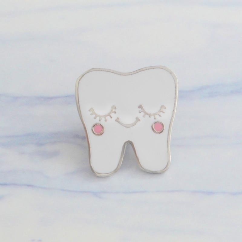 Legierung Zahn Gold Silber Brosche Dekoration Schmuck Zubehör Zahnarzt Geschenk