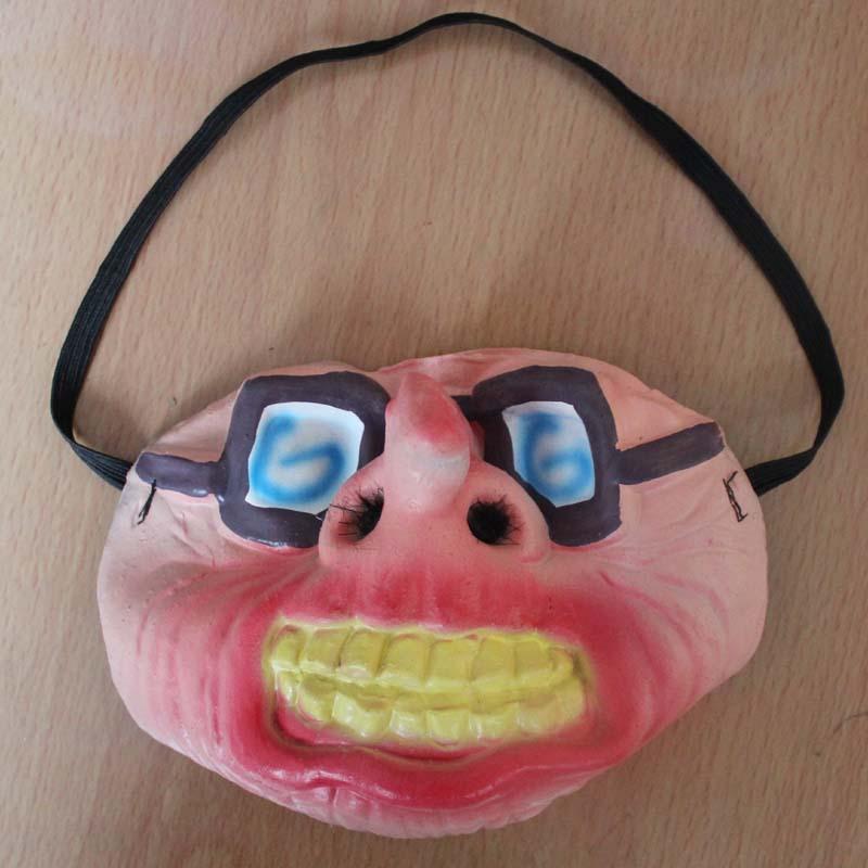 半脸面具搞笑面具乳胶半脸面具 舞会表演装扮整蛊面具