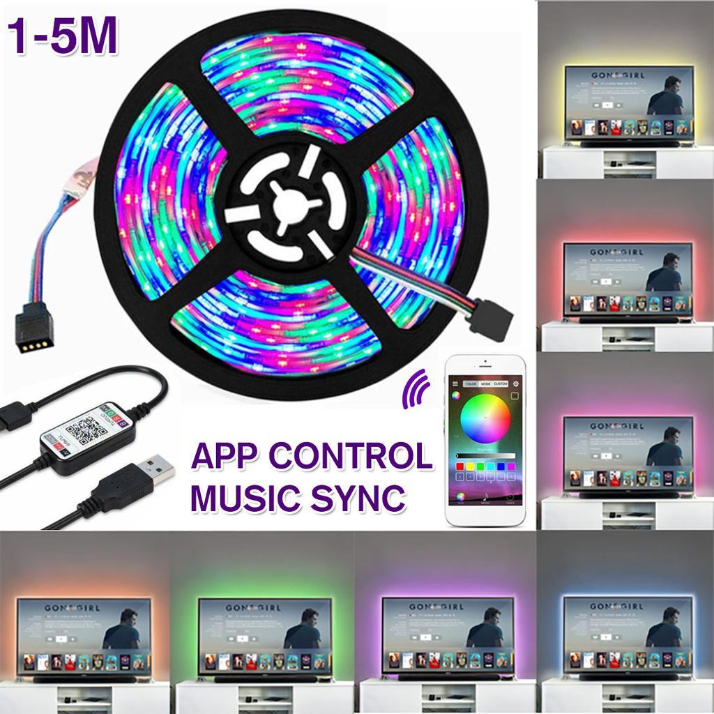 5V RGBW RGBWW LED Strip Lights tv Colour under kitchen cabinet USB wifi 1//2//3//5m