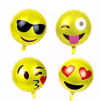 4 Stk Emoji Smiley Aluminium Folie Geburtstag Party Ballons