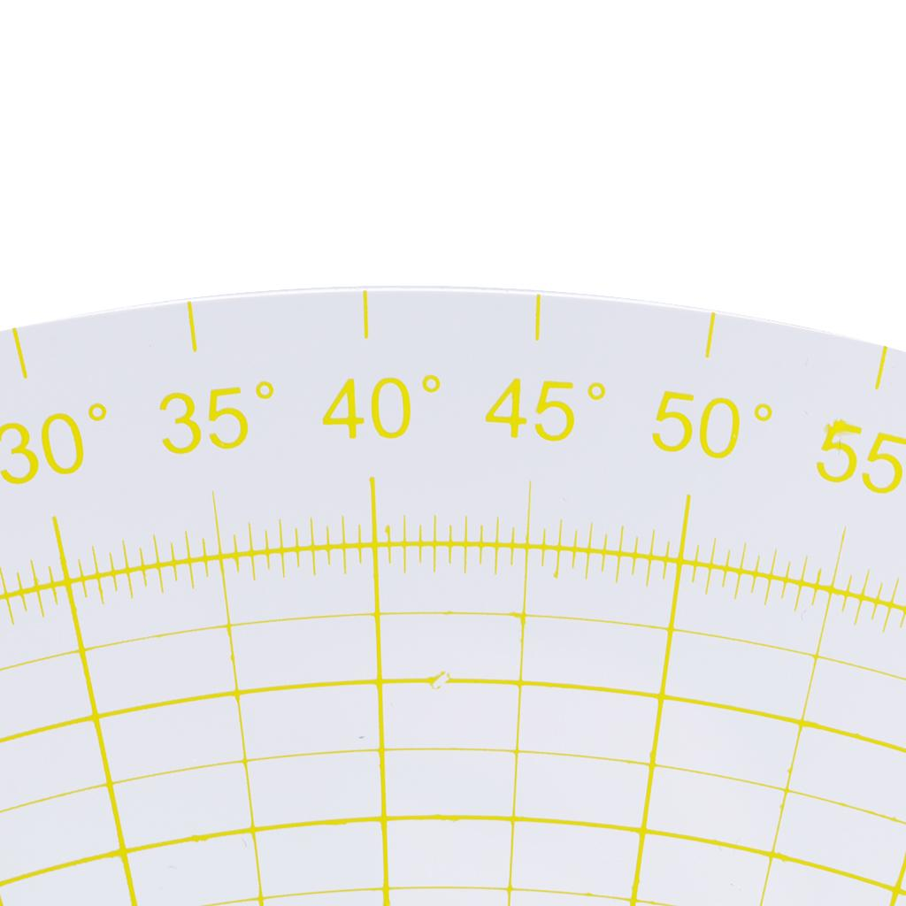 Clear Sector Shape Acrylic Quilting Template Patchwork Ruler Tool 0-133mm
