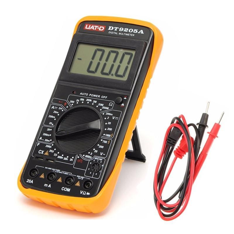 Autres Dt9205 A Voltmètre Multimètre Numérique Ampèremètre Testeur De Capacité 9 V