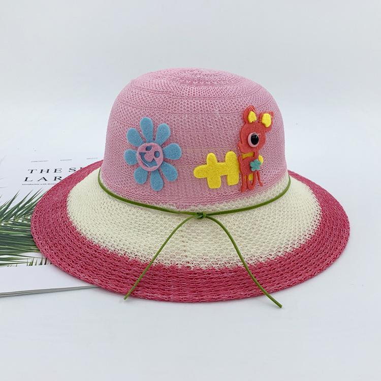 Summer Baby Sun Hat for Girls Boys Outdoor Beach Hat Kids Cap Wide Brim SM