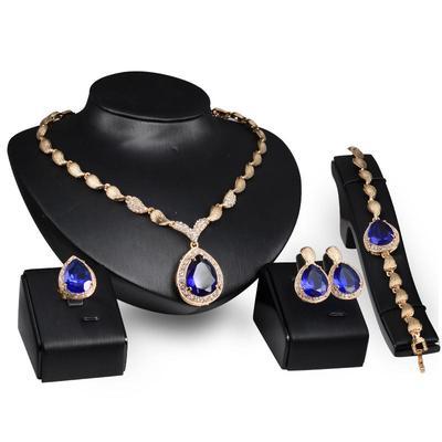 1c19feac Kropelki wody Gem pozłacane Wysokiej jakości 5 sztuk / zestaw Wysokiej  klasy biżuteria bankietowa dla nowożeńców