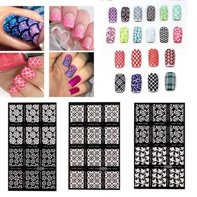New Designs Nail Art Stencils Vinyl Decal Stickers Manicure Tips Stamp Template
