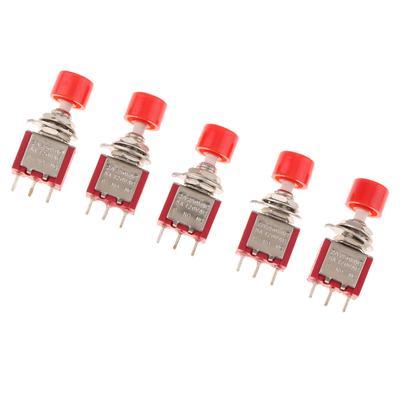 Rouge /Équipement Industriel Bateau 10PCS Interrupteur /à bascule 20A 12VDC Interrupteur /à bascule avec LED Manche court 3 broches pour Voiture