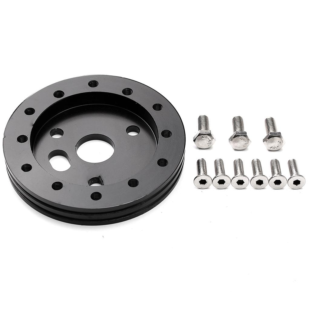 """0.5/"""" Hub for 5 /& 6 Hole Steering Wheel to Grant 3 Hole Adapter Boss Black 1//2/"""""""