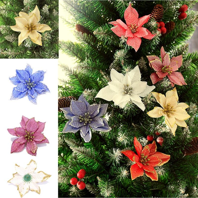 18cm Christmas Hollow Flower Wedding Party Wreath Decoration Sticky Pendant
