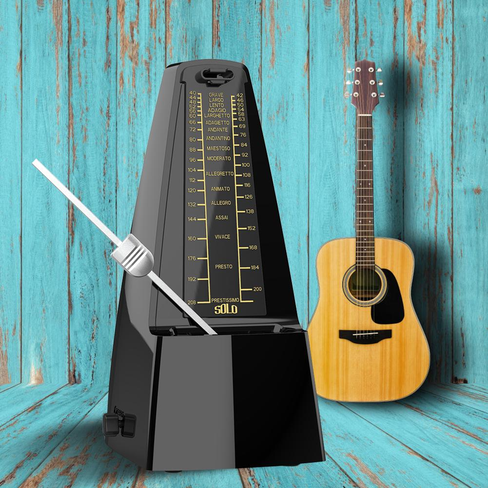 No Battery Universal Mechanical Metronome with Dust Cover for Piano Guitar Drum Bass Other Instruments