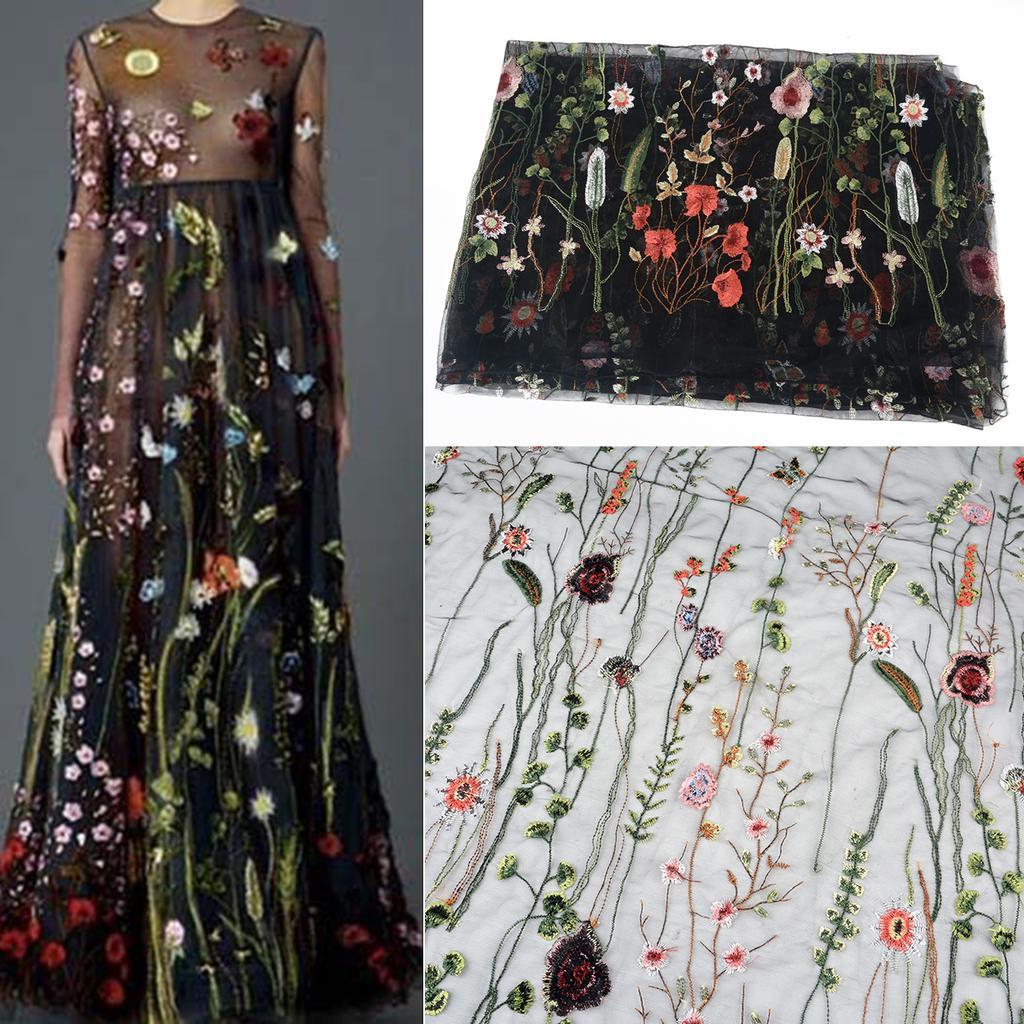e580787b756 Peigu 135   100 см черный цветок цветочные вышивки сетки свадьбы ...
