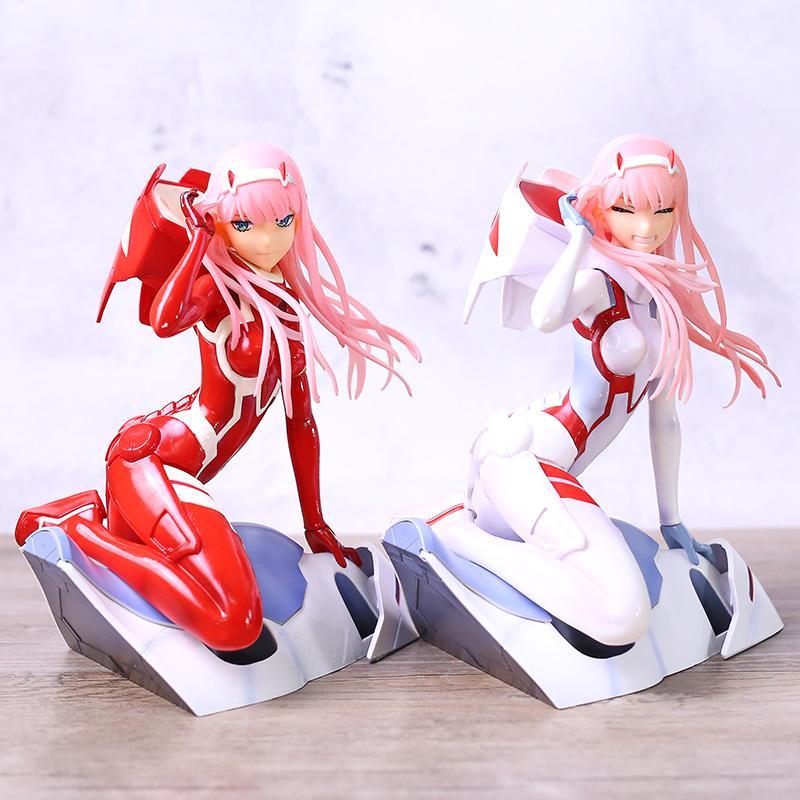 Anime DARLING in the FRANXX Zero Two 02 PVC Figure Model Toy 16cm White No Box