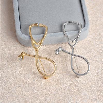 833f7d607c89 Alto grado médico estetoscopio broche Pin médico enfermera personalizada  joyería