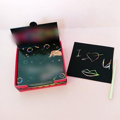 20pcs Blank Engraving Board Scraper Picture Board Scratch Paper Art Scratchboard