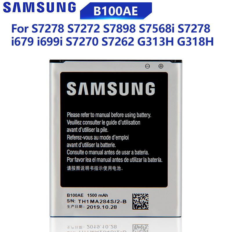 Samsung Оригинальный B100AE Телефонная батарея для Samsung Галактика Ace 3 Туз 4 S7568i S7278 i679 S7270 S7262 i699i S7898 S7272 G313H G318h 1500mAh – купить по низким ценам в интернет-магазине Joom