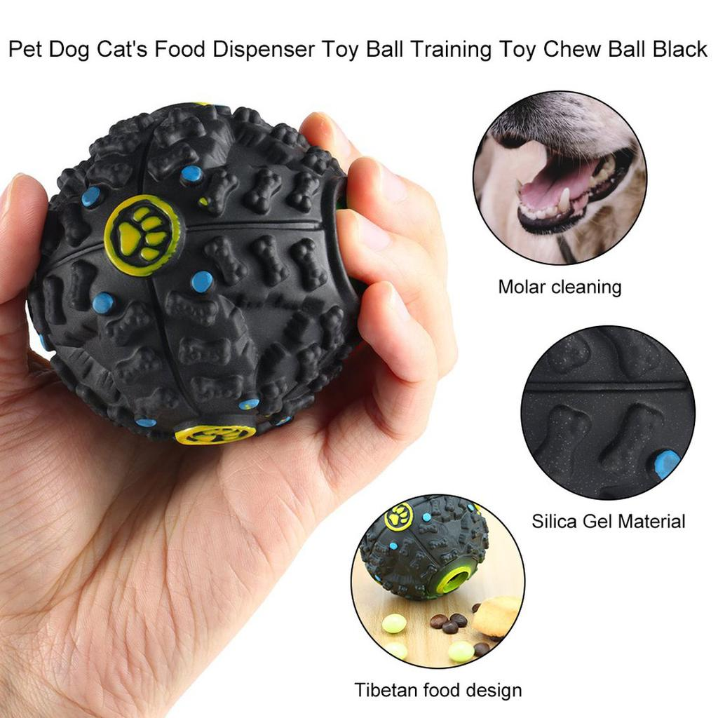 Pet Dog Cat Food Dispenser Squeaky Giggle Quack Sound Training Toy Chew Ball Gcc Buy At A Low Prices On Joom E Commerce Platform