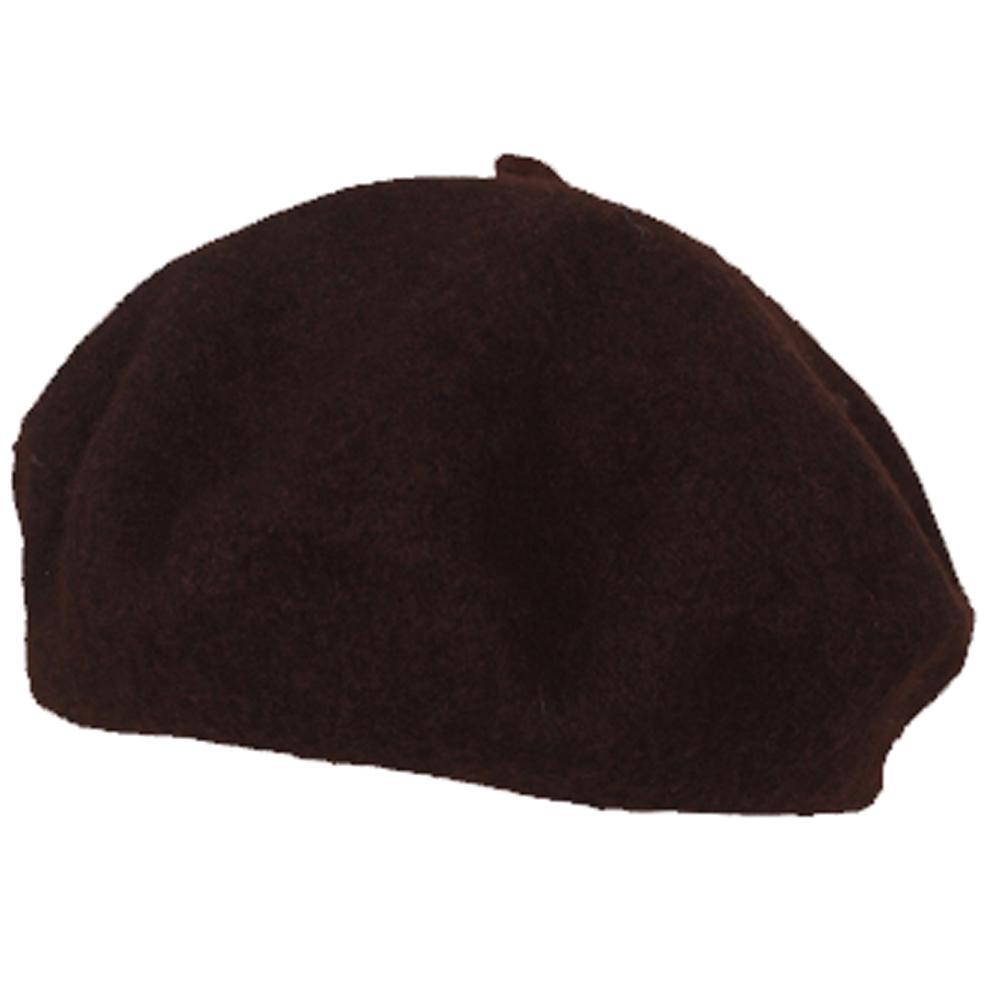 Sombrero de las mujeres moda color sólido boina de pintor sombrero de lana  café 0240f98a5da