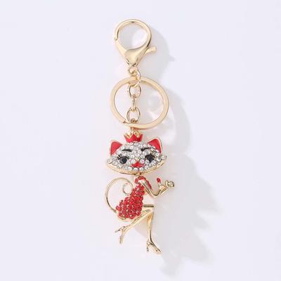 bc12da45f70 Rhinestone Owl Keychains Women Sexy Key Holder Chain Ring Car ...