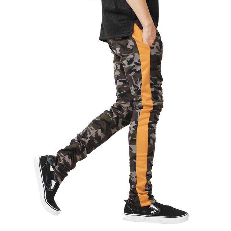 Stylish Men Pants Bundle Camo Casual Trousers Stitching Cotton Sweatpants Dance