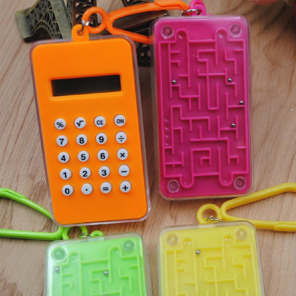 MASUNN 10Cm Solar Magnifier Mini Calculator Multifunzione Ultra-Sottile Righello Ufficio Forniture Regalo Miglior Regalo-Verde