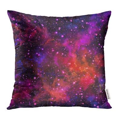 Abstract Watercolor Starry Sky And Nebula In Blue And Violet Colors Black Celestial Pillow Case Cover 16x16inch 40x40cm Buy At A Low Prices On Joom E Commerce Platform