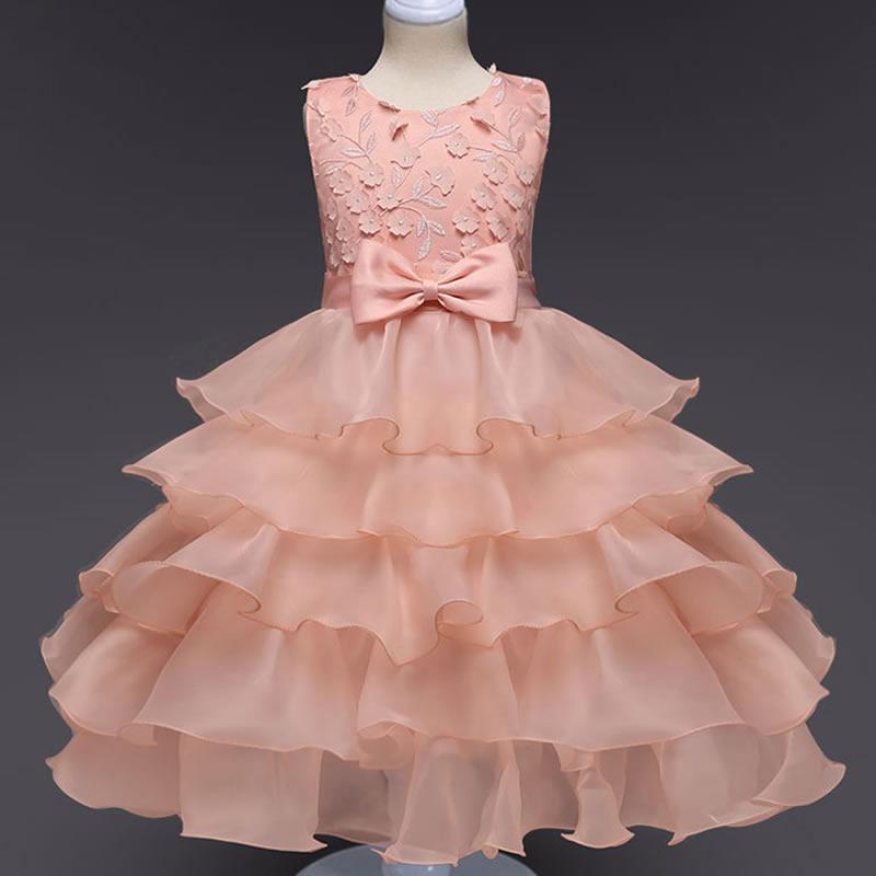 Niños niñas hermosa una sola pieza vestido volantes vestidos de ...