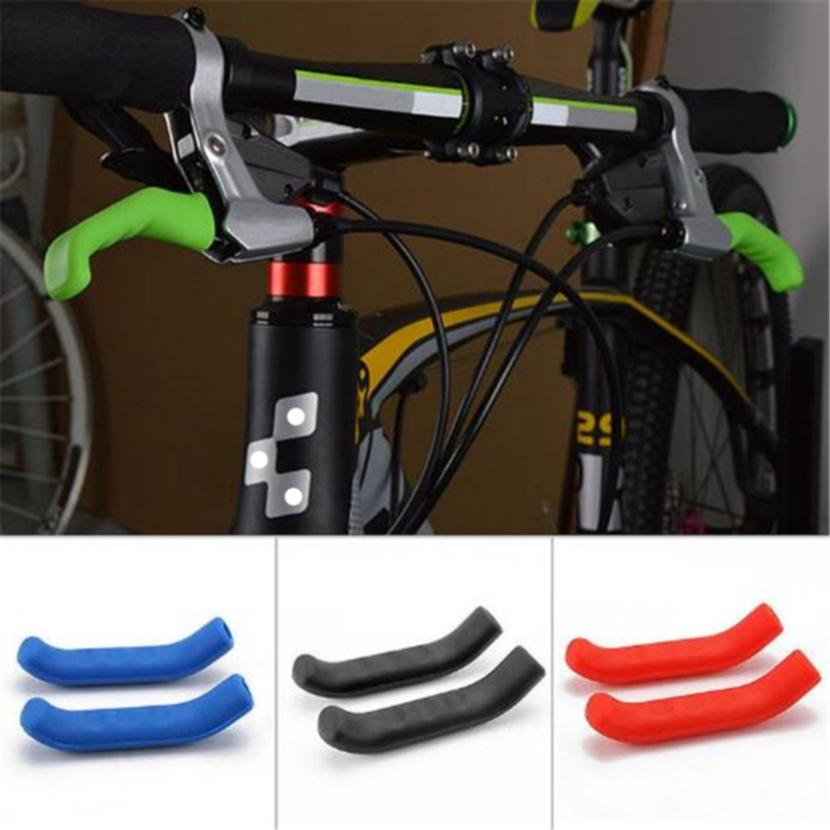 2pcs Silicone Brake Lever Cover Grip Guard Soft Handlebar End Grip for Bike