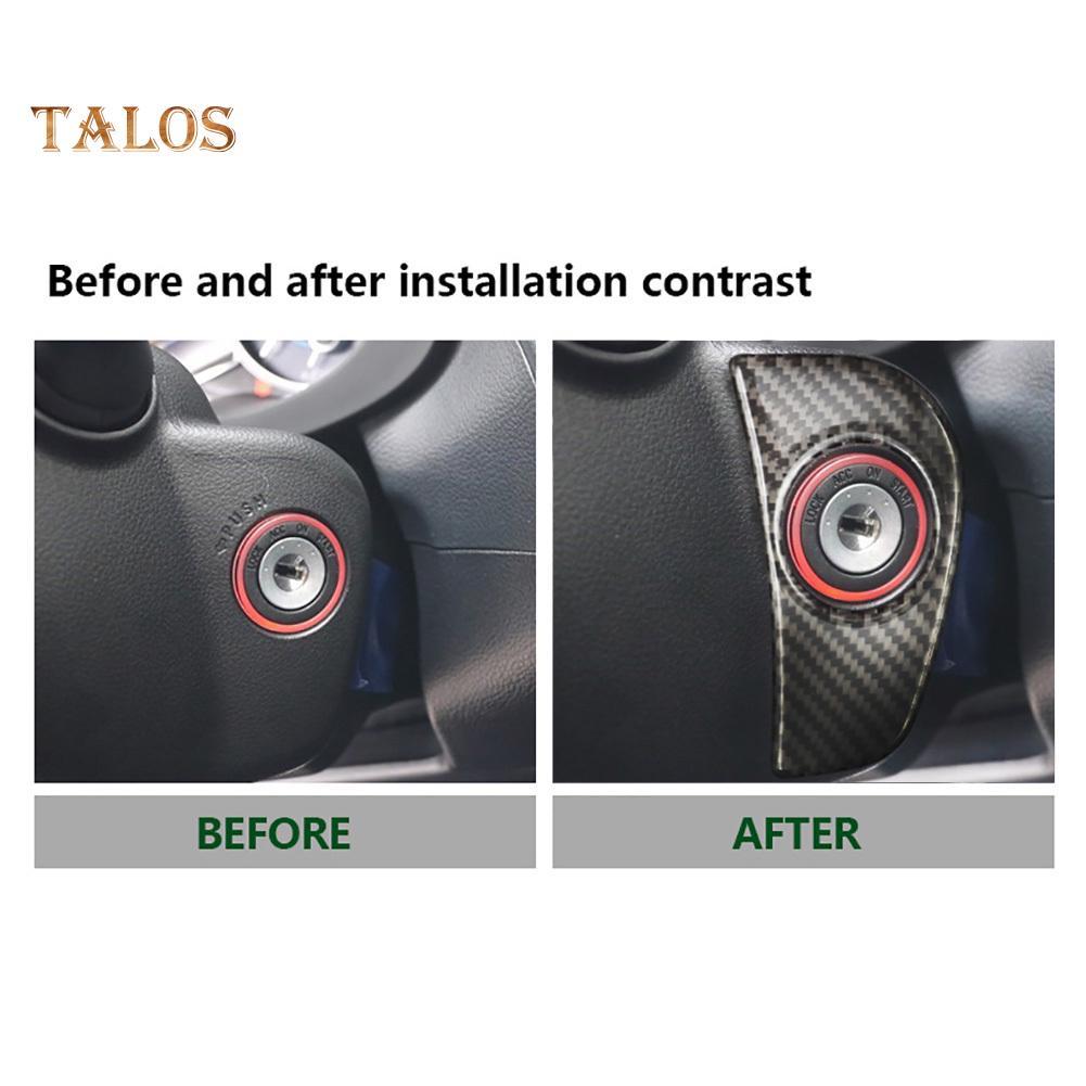 Keyhole Cover Trim Carbon Fiber Keyhole Cover Sticker Ignition Decoration Car Accessories