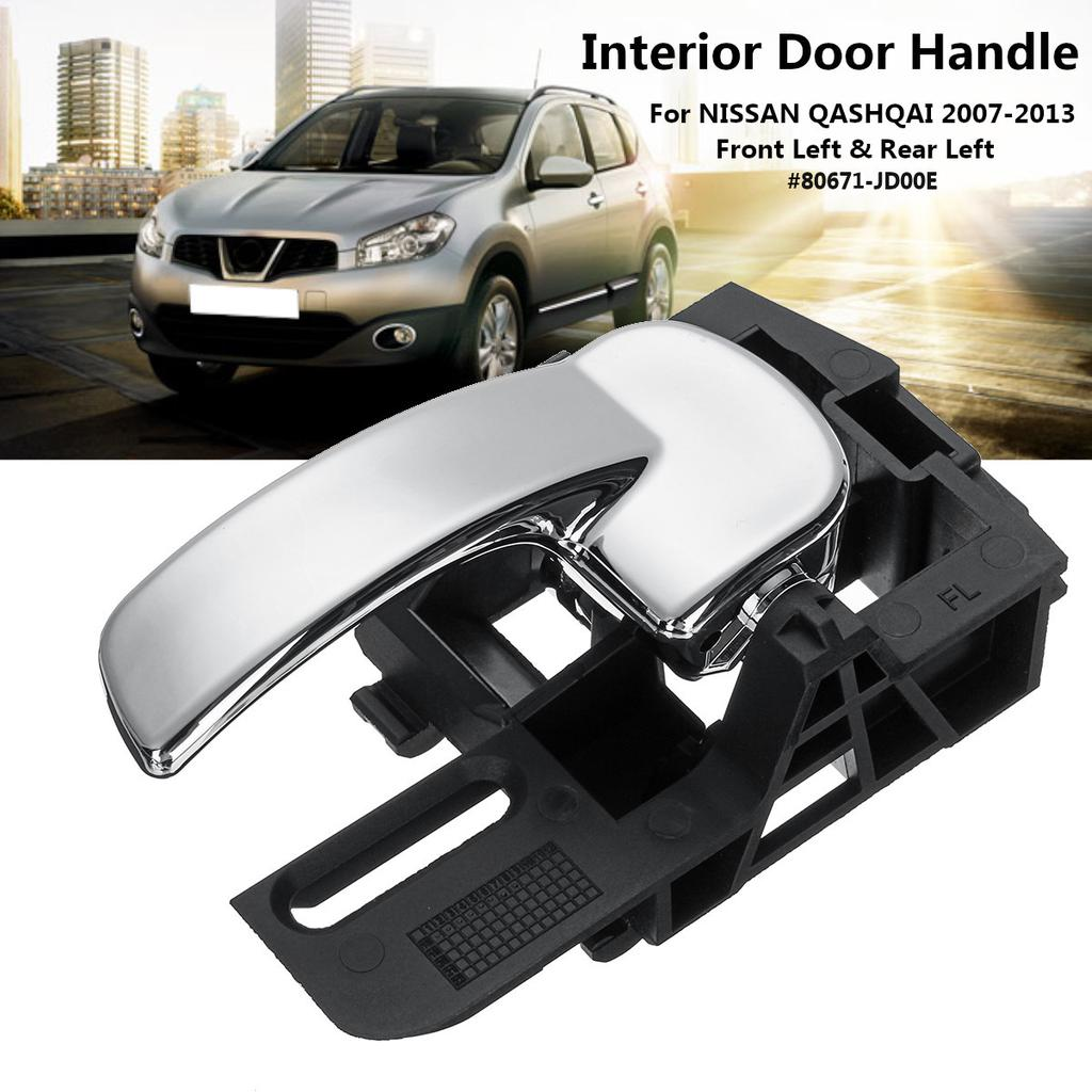 Inner Door Handles Rear Left For NISSAN For QASHQAI Pair High Quality Accessory