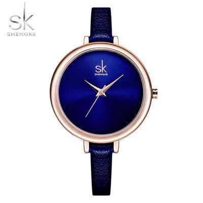 SK K0069L Women's Elegant Thin Strap Quartz Watch Leather Business Watch