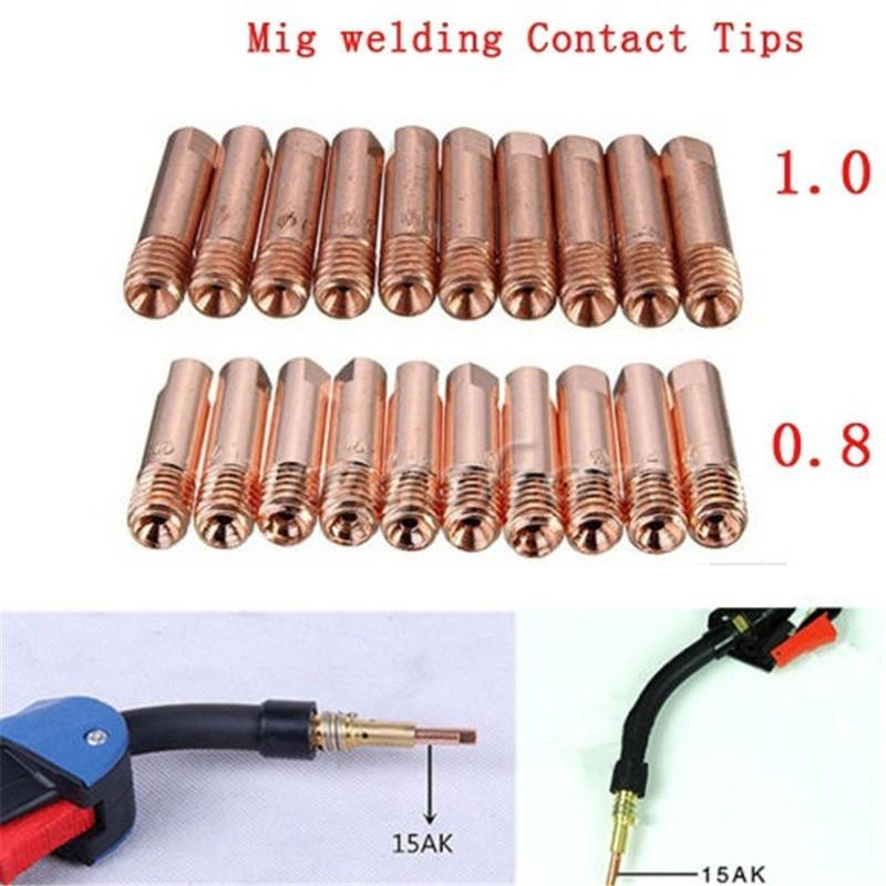 20pcs Welding Torch Contact Tips Gas Nozzle Accessories Fit For MB-15AK MIG//MAG