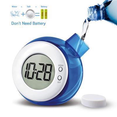 Water Powered Clock Desk Clock Eco-friendly Water Energy Digital Clock Creative Table Clock Desk Decoration