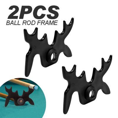 Pool Billard Cue Rest Stick Bridge Head Position Moosehead Spider Bat Black