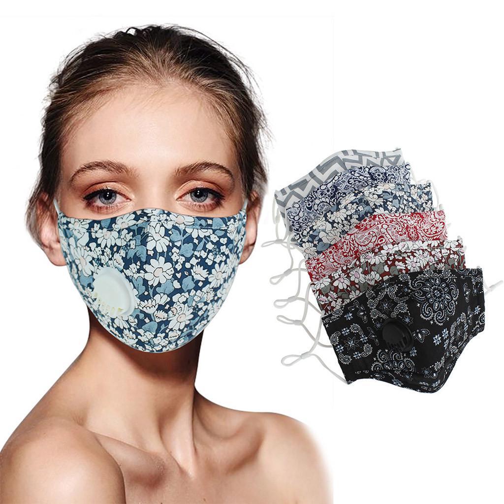 Unisex Дыхание Valve Печатные лица Маска Пыль Доказательство Туман Доказательство моющиеся маски лица – купить по низким ценам в интернет-магазине Joom