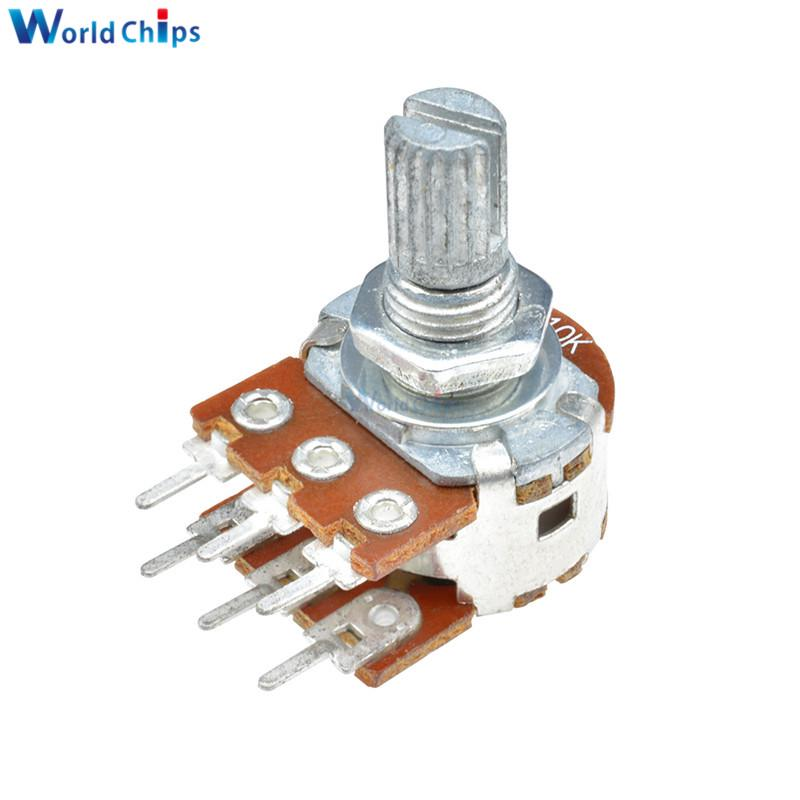 10 pcs B20K Potentiometer Pots Tone control 15mm Split Shaft 3 Pins