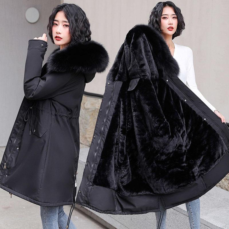 Faux Fur Lined Parka Coat Women, Long Faux Fur Lined Winter Coat