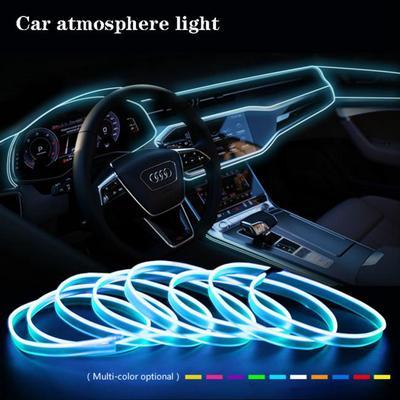 1M Car LED Light Strip EL Cold Wire Fluorescent Neon Tube Interior Decor Lamp