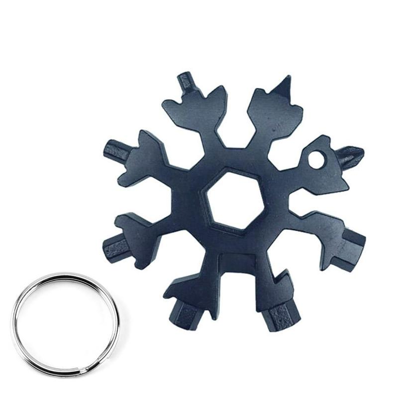 19-in-1 Snow Flake Multi Tool Flat Cross Household Snowflake Shape Portable Tool